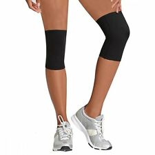 (2) Beautyko USA Womens Thera Copper KNEE SLEEVE Inflamation Compression BLACK