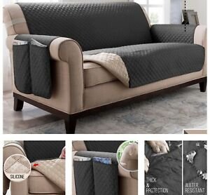 Sectional Sofa Couch Cover Stretch Furniture Protector Water Resistance Non Slip