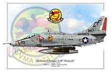 """McDonnell Douglas A-4F """"Skyhawk""""  c/n Bu. 151147 VMA-211 / USM  - Poster Profile"""