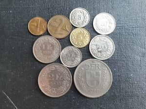 Switzerland coin set