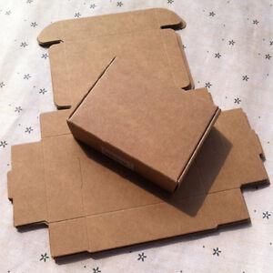 10x Kraft Paper Box 80mm*60mm*22mm Gift Boxes Candy Earring Bracelet Packaging