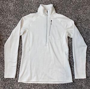 Patagonia Polartec Women's SMALL Regulator Waffle Knit 1/4 Pullover Jacket White