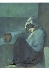 Kunstpostkarte -  Pablo Picasso:  Sitzende Frau mit Kapuze
