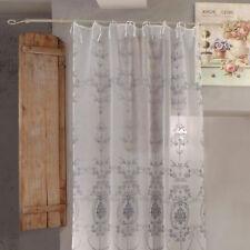 Rideau Voilage Polyester Brodé , Décoration de Fenêtre , Rideau Voilage Polyeste