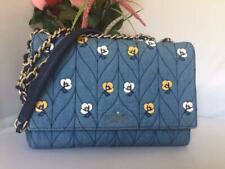 NWT $429 Kate Spade Emelyn Briar Lane Quilted Applique Denim Shoulder Purse Bag