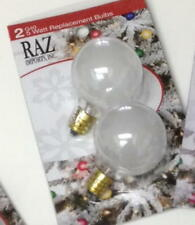 Raz Import, G40 5 Watt Replacement Bulbs New White 5 Pkgs (Last Set)