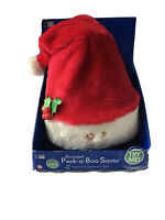 Gemmy Animated Singing Santa Peek a Boo Christmas Plush New In Box