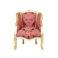 Bergère Louis XV rouge et dorée