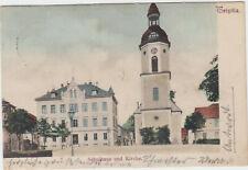 B 500 Triptis 1923 ! Schulhaus und Kirche !