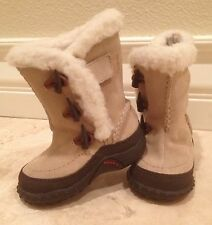 MERRELL Thinsulate Child Leather Sheep Skin Lining Quality Winter Boots Size 4