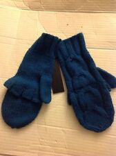 CHRISTOPHER FISCHER Cashmere PEACOCK Fingerless Mittens Turquoise Gloves NWT
