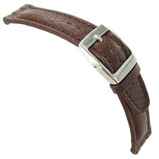 20mm Morellato Genuine Italian Leather Heavy Padded Brown Fits Swatch Watch Band