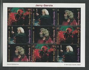 MONTSERRAT # 970-981 MNH JERRY GARCIA, Miniature Sheets of Nine