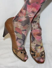 Vintage Leder Pumps Leather Peeptoes Peeptoe Schuhe 37 Echtleder UK4.5 Heels