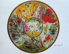 "MARC CHAGALL ""PARIS OPERA CEILING"" Signed Numbered Lithograph Art"