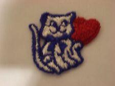 Cat With A Heart Embroidery Applique Patch Emblem Lot (50 Dozen)