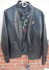 A Collezioni Fine Italian NEW Collection Sz M Faux Leather Jacket BLACK ~ NWT