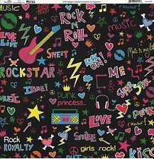 Sugar Tree - Rock Star Scrapbooking Paper - 02111 Rock and Roll, Peace Love