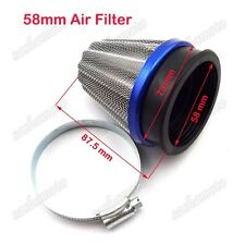Racing 58mm Motorcycle Power Air Filter For Trail Motor Dirt Pit Bike Motocross