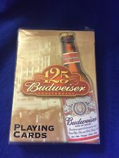 Vtg 2001 Sealed Budweiser 125th Anniversary Playing Cards Nos