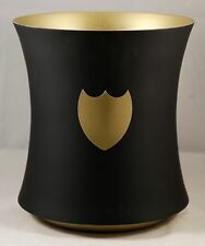 Dom Perignon Pewter Ice Bucket Black & Gold  UNUSED BOX IS DAMAGED/ SCUFFED