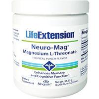 Neuro-Mag Magnesium L-Threonate Powder 3.29oz/93g Life Extension Tropical Punch
