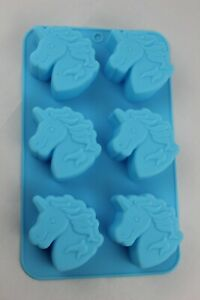 Unicorn 6 cell silicone Mould Melts Chocolate Ice Cube Fondant Soap Cake Crafts