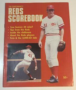 Cincinnati Reds Scorebook / Program - 1978 vs St.Louis - Tom Seaver P. Rose 3000