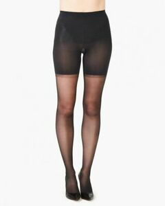 Spanx Womens Size A Firm Believer High Waist Shaping Pantyhose Sheers Black $32