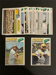 1977 Topps Pittsburgh Pirates Team Set 23 Cards