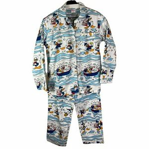 The Disney Store Mens Vintage Long Sleeve Collared Pajama Sets S / M