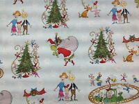 """Grinch Stole Christmas the Grinch , dr Seuss cotton fabric by FQ 18"""" x 22"""""""