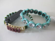 J.Crew Crystal bubble bracelet NWT 29.99 Style F3268 Striped Crystal Cuff NWT 49