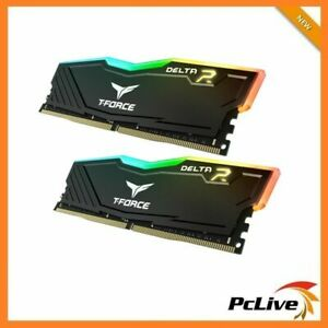 Team DELTA RGB 16GB DDR4 3600 Mhz Gaming Memory 2x 8GB RAM Desktop 28800 Black