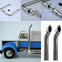 1Pair Truck Exhaust Pipe Metal Car Accessaries For LESU 1/14 RC Model DIY TAMIYA