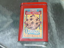 NESTLE TOLL HOUSE COOKIES MORSELS TIN CANISTER CONTAINER COLLECTIBLE