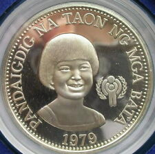 Philippines 1979 Year of the Child 50 Pesos Silver Coin,Proof
