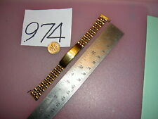 "Vintage CITIZEN Jubilee Stainless Steel Gold Tone Watch BAND 12 mm lug, 5 1/2""L"
