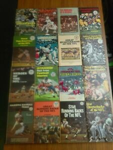 Punt Pass and Kick Library 16 Hard Cover Book Lot NFL Football 1960's & 1970's