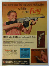 1959 Nichols F-500 FURY Cap Machine Gun ad page