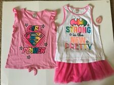 3cb6ff519f NEW Girls DC Super Girl (3 Piece Set) 2 Tops   1 Tulle Scooter