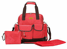 Large RED Baby Nappy Backpack Bag (BNWT) Polkadots