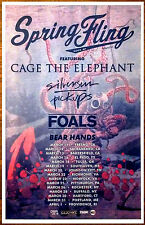 CAGE THE ELEPHANT SILVERSUN PICKUPS FOALS Spring Fling Ltd Ed RARE Tour Poster!