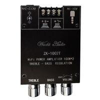 Zk-1002T Tpa3116D2 Bluetooth 5.0 Subwoofer Verstärker Platine 2X100W 2.0 Ka M6R4