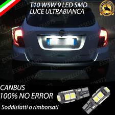 LUCI LED TARGA SPECIFICI OPEL MOKKA X FACELIFT T10 W5W CANBUS NO ERRORE 6000K