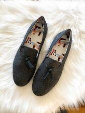 $255 Mens SLYPERS XXX Italian Wool Loafer Shoes Slipper Gray Italy Sz 43 US 10