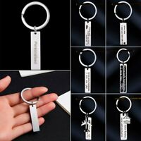 Personalized DIY Custom Stainless Steel Drive Safe Letter Keychain Keyring Gift