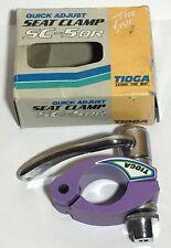 Vintage NOS Tioga SC-5QR Quick Adjust Seat Clamp- Rare Purple