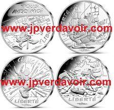 FRANCE Astérix 12 x 10 Euro Argent Valeurs de la République 2015 - VAGUE 2