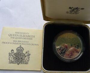 Crown 1980 Queen Mother 80th Elizabeth II SILVER PROOF 28g COA